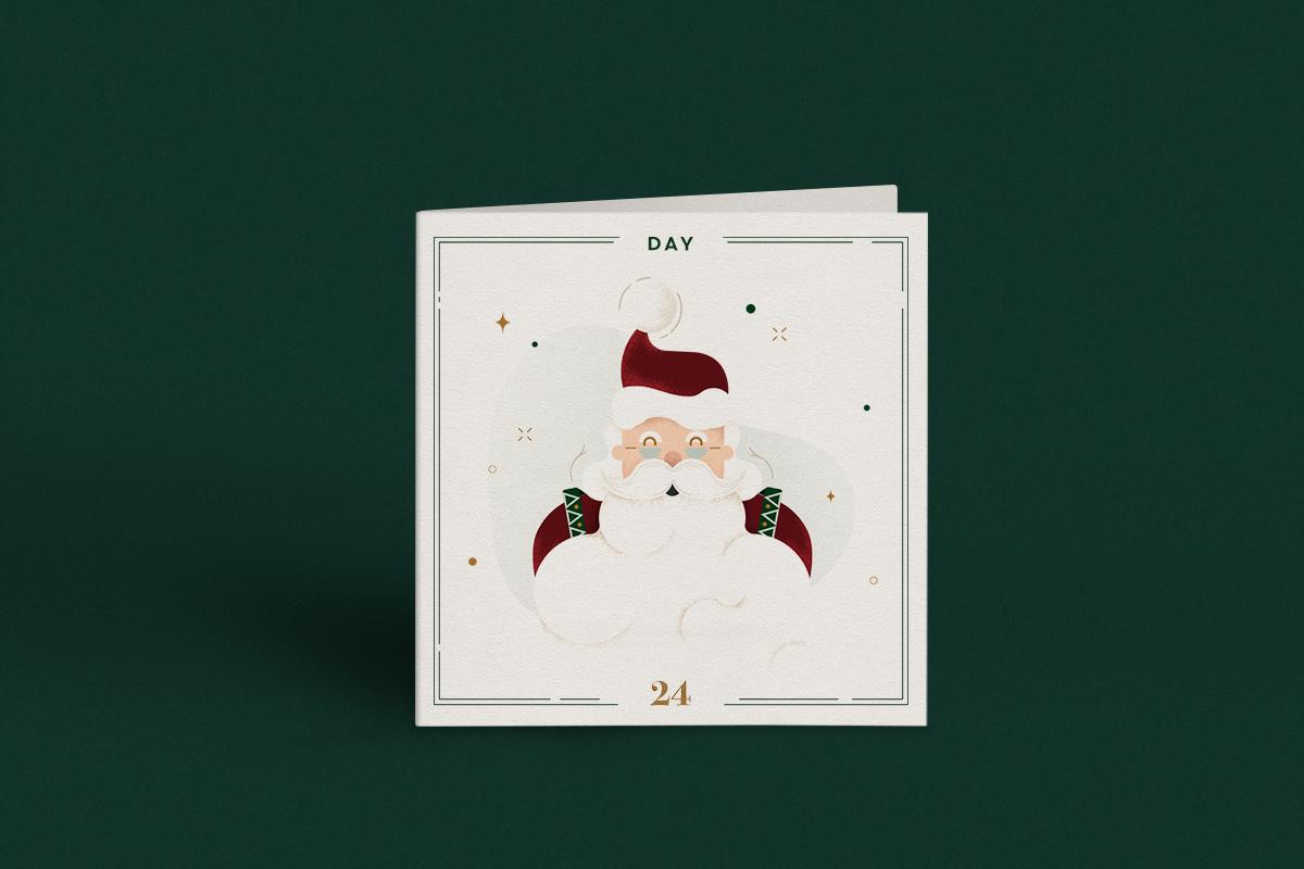 Ilustración tarjetas navideñas por Carlota Marcos Gelpi