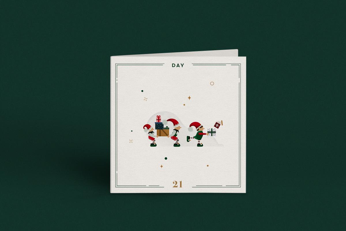 Gelpi Design Christmas Advent Calendar Illustration