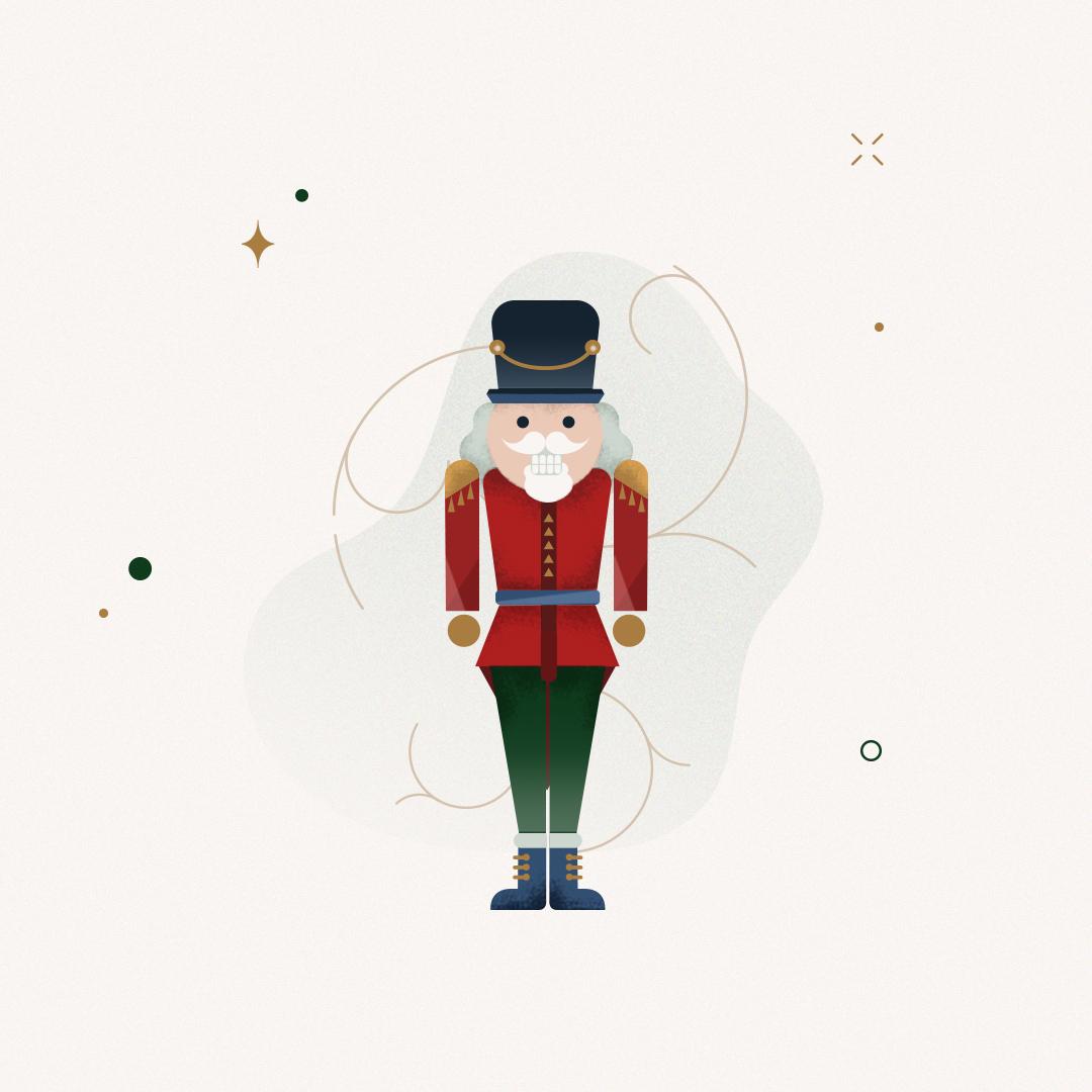 Christmas Nutcracker Illustration by Gelpi Design