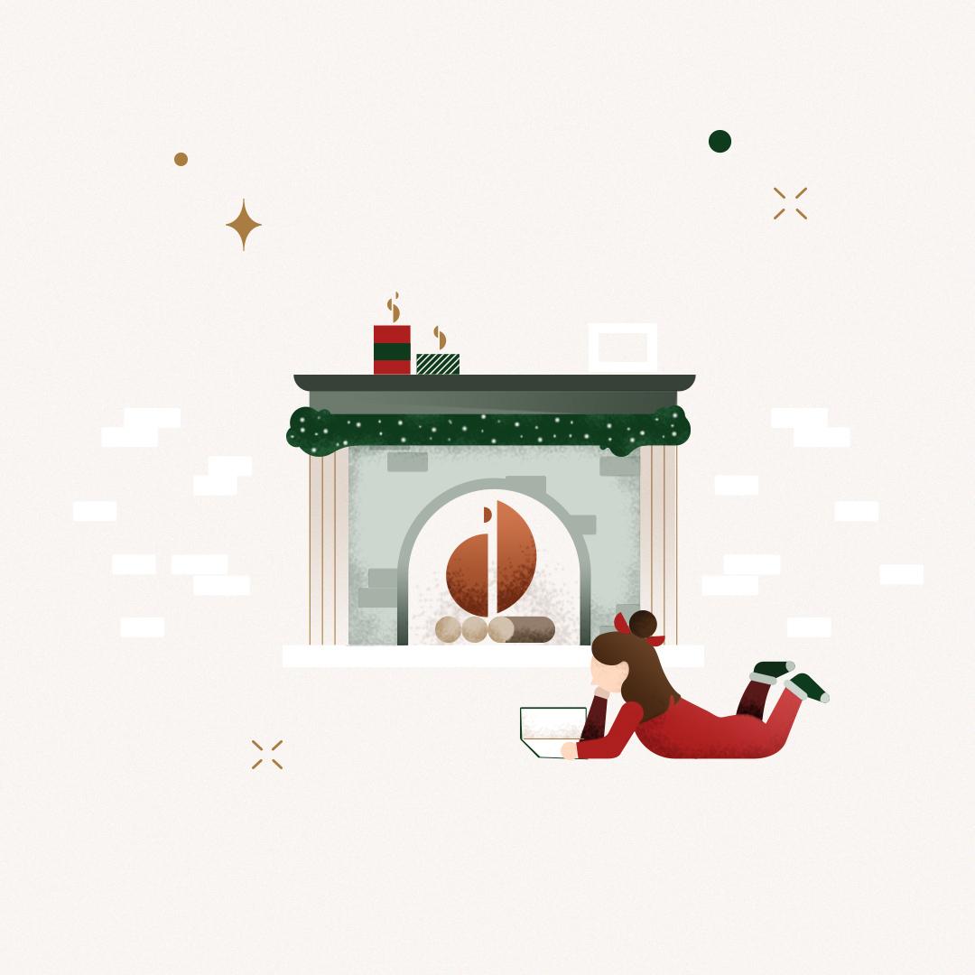 Christmas illustration by Gelpi Design