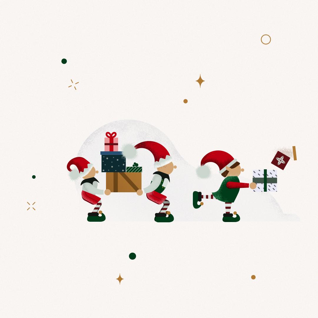 Ilustracions Calendario de Adviento Gelpi Design