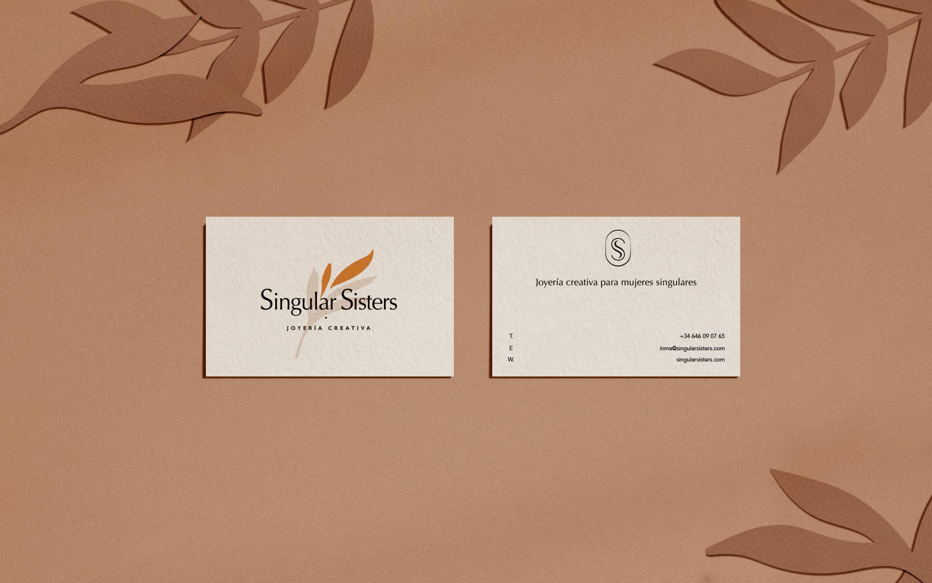Singular Sisters tarjetas de visita por Gelpi Design
