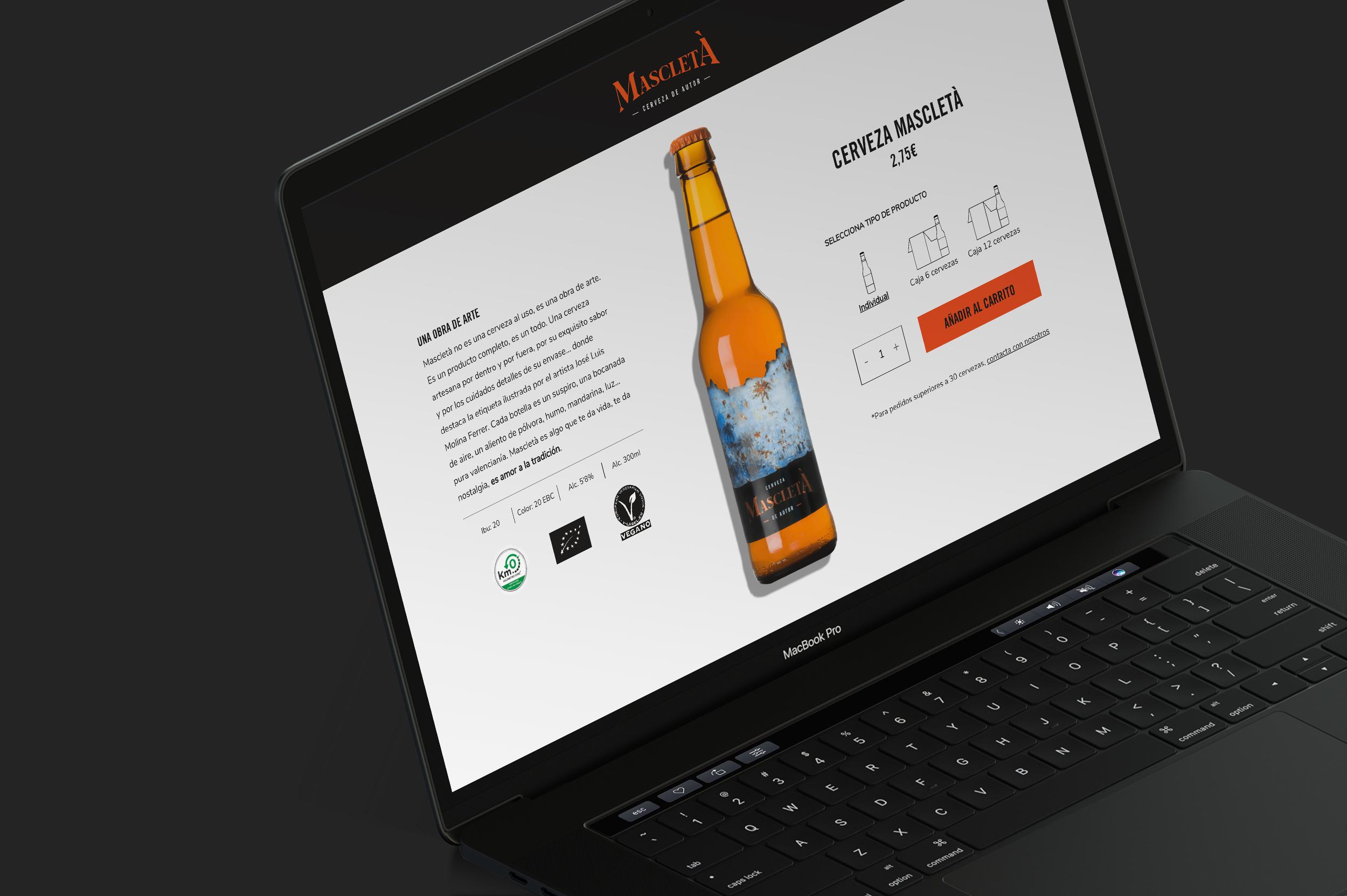 Cerveza Mascletá tienda online y web