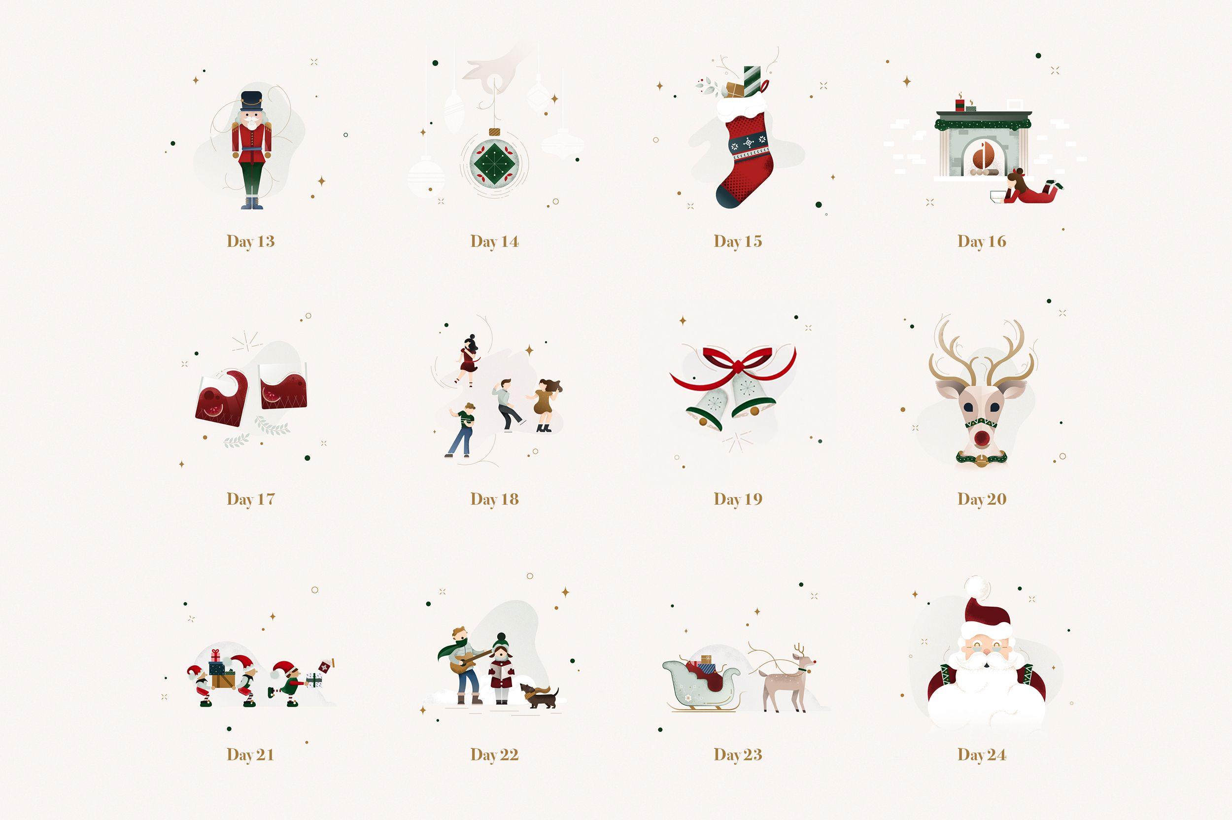 Christmas Advent Calendar illustration by Gelpi Design