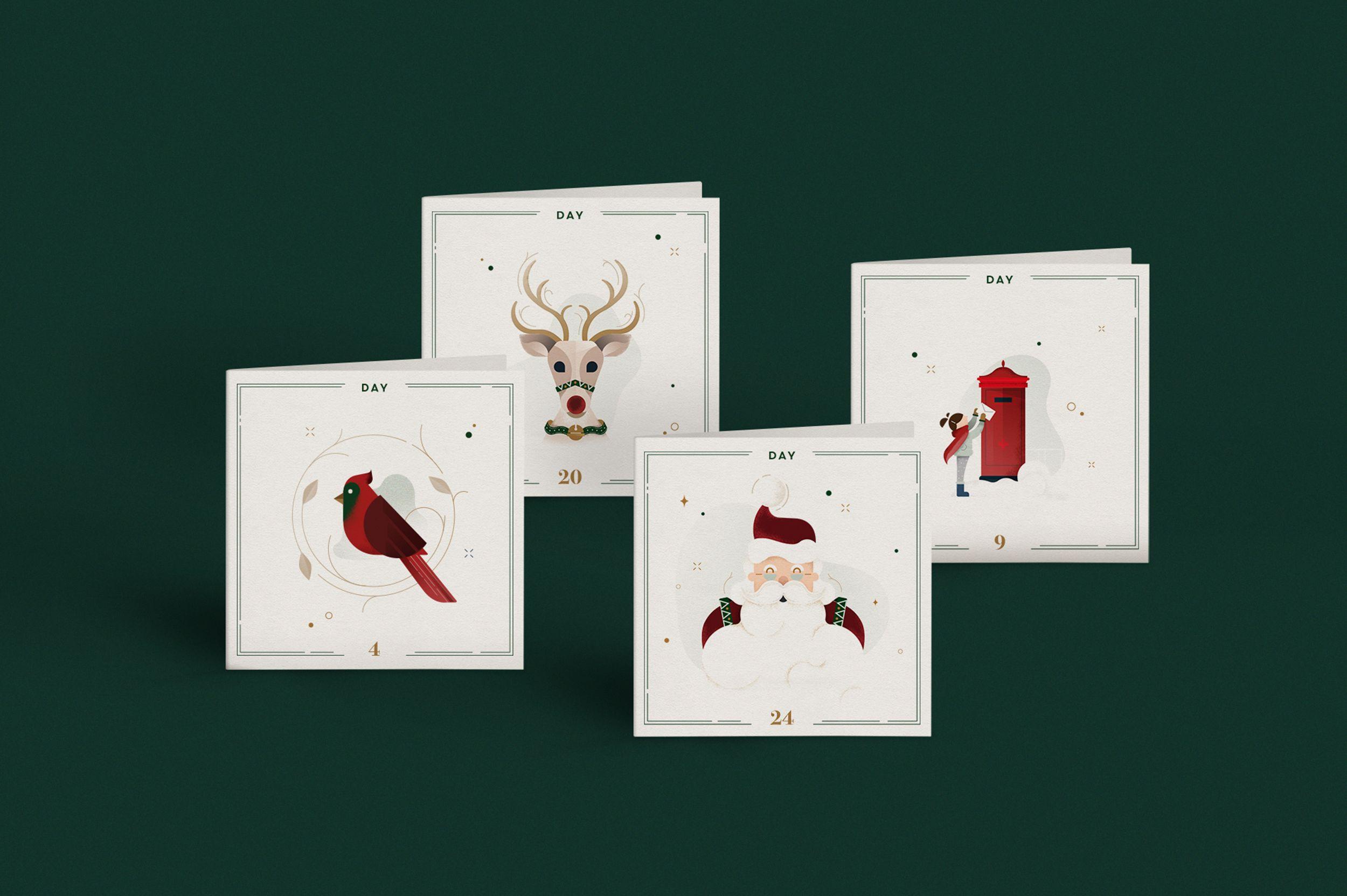 Christmas Postcards illustration by Gelpi Design