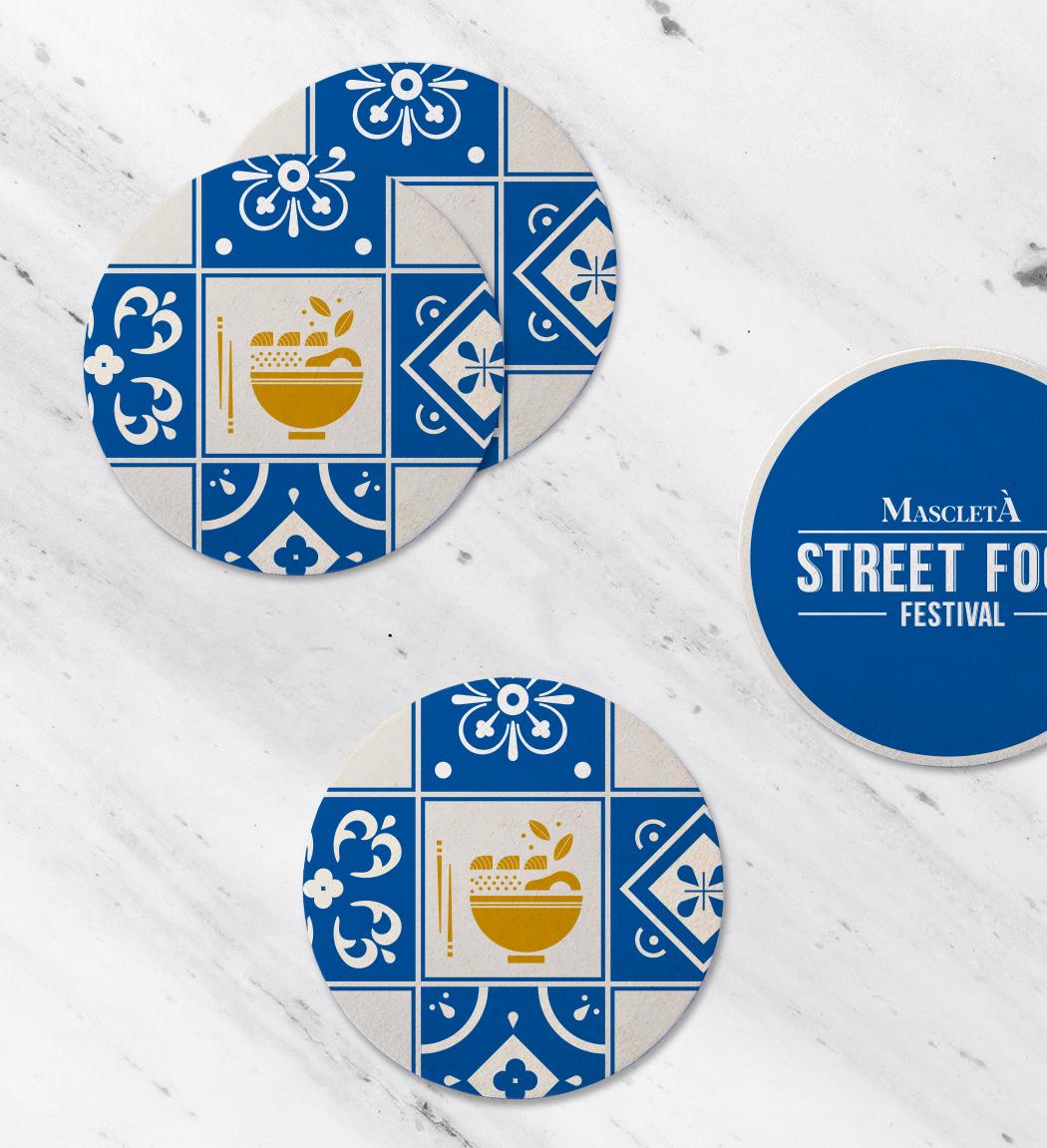 Mascletà Street Food Festival visual identity design by Gelpi Design